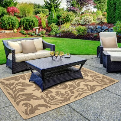 Jaya Devon Taupe/Beige Indoor/Outdoor Area Rug Rug Size: 23 x 39
