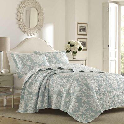 Venetia 100% Cotton Reversible Quilt Set Size: Full/Queen