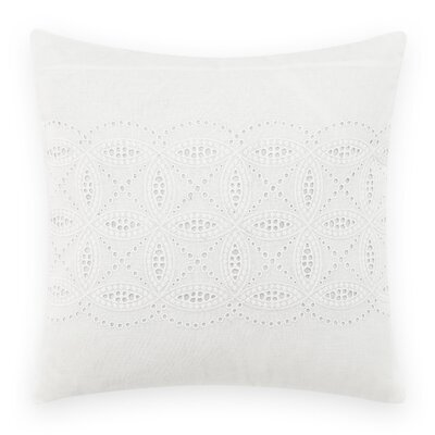 Crochet Throw Pillow by Laura Ashley Home Color: White