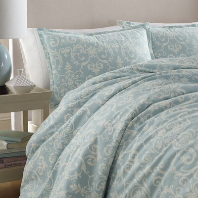 Kensington Scroll Flannel Comforter Set by Laura Ashley Home Size: King