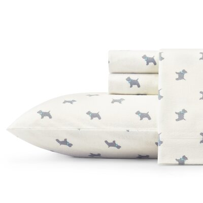 Scottie Flannel Sheet Set by Laura Ashley Home Size: Queen