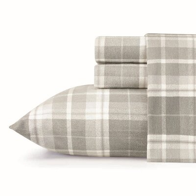 Mulholland Plaid Flannel Sheet Set by Laura Ashley Home Size: Queen