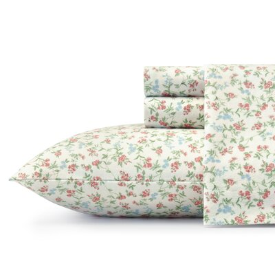 Lucy Flannel Sheet Set by Laura Ashley Home Size: Queen