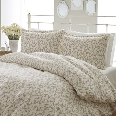 Victoria Flannel Comforter Set by Laura Ashley Home Size: King