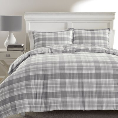 Mulholland Plaid Flannel Duvet Set by Laura Ashley Home Size: Full/Queen