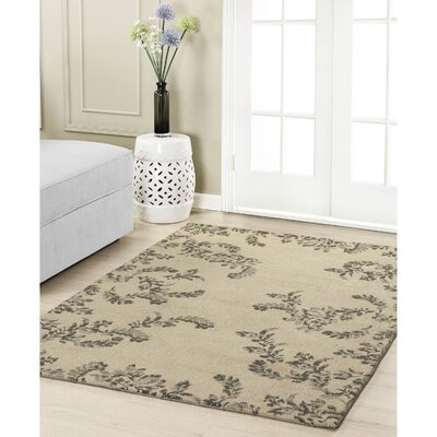 Winchester Taupe Area Rug Rug Size: 4 x 6