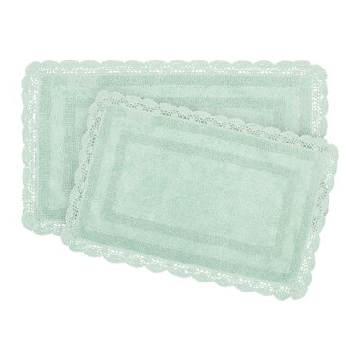 2-Piece Bath Rug Set by Laura Ashley Home Color: Aqua