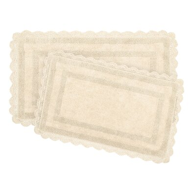 2-Piece Bath Rug Set by Laura Ashley Home Color: Linen