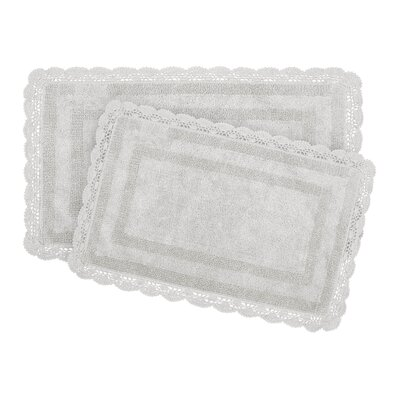 2-Piece Bath Rug Set by Laura Ashley Home Color: Light Gray