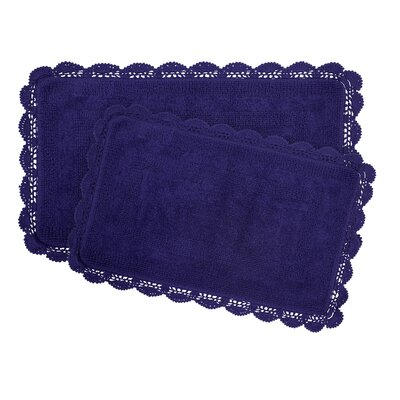 2-Piece Bath Rug Set by Laura Ashley Home Color: Indigo