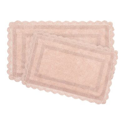 2-Piece Bath Rug Set by Laura Ashley Home Color: Blush