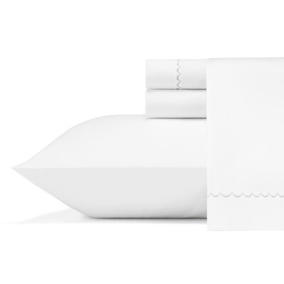 WV Simple Scallop 300 Thread Count 100% Cotton Sheet Set Size: Queen