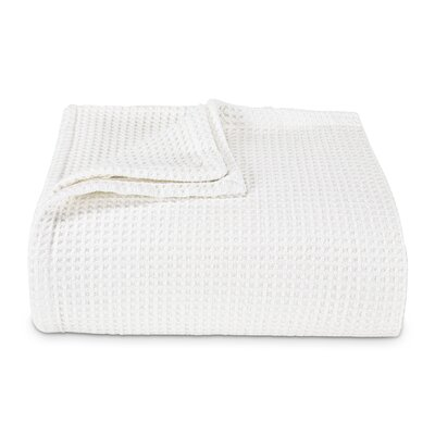 Waffleweave 100% Cotton Blanket Size: King