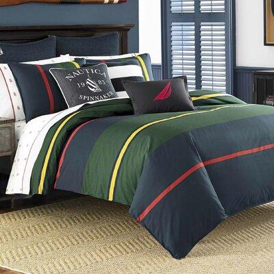 Heritage Classic Stripe 100% Cotton Duvet Set Size: Full/Queen