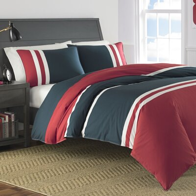 Heritage Colorblock 100% Cotton Comforter Set Size: Twin