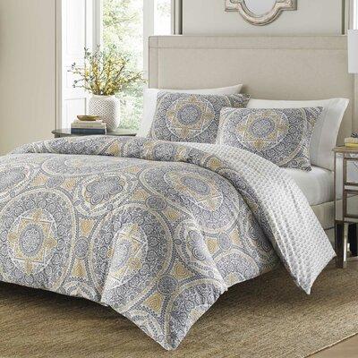 Qureshi 100% Cotton 3 Piece Duvet Set Size: Full/Queen