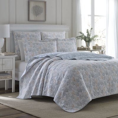 Coral Sea Reversible Quilt Set by Laura Ashley Home Size: King