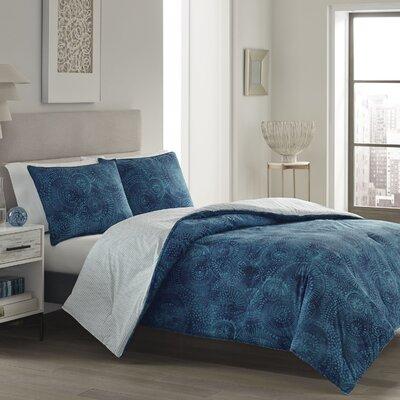 Truckee 100% Cotton Reversible Comforter Set Size: Full/Queen