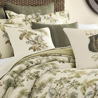 Nador Palm Embroidery 100% Cotton Throw Pillow by Tommy Bahama Bedding
