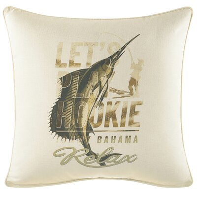 Nador Lets Play Hookie 100% Cotton Throw Pillow by Tommy Bahama Bedding
