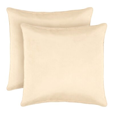Lucas Solid Shiny Velvet Throw Pillow Color: Ivory