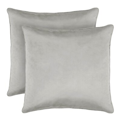 Lucas Solid Shiny Velvet Throw Pillow Color: Silver