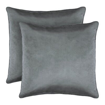 Lucas Solid Shiny Velvet Throw Pillow Color: Gray