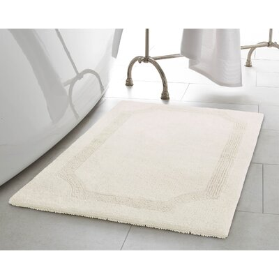 Reversible Bath Rug Size: 17 L x 24 W, Color: White