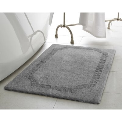 Reversible Bath Rug Size: 17 L x 24 W, Color: Charcoal