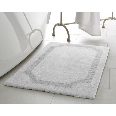 Reversible Bath Rug Size: 17 L x 24 W, Color: Light Gray