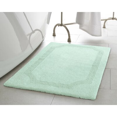 Reversible Bath Rug Size: 21 L x 34 W, Color: Aqua