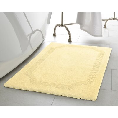 Reversible Bath Rug Size: 21 L x 34 W, Color: Yellow