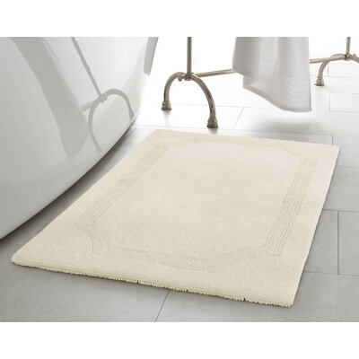 Reversible Bath Rug Size: 17 L x 24 W, Color: Ivory
