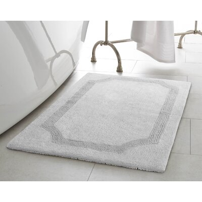 2 Piece Reversible Cotton Bath Rug Set Color: Light Gray
