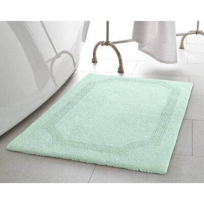 2 Piece Reversible Cotton Bath Rug Set Color: Aqua