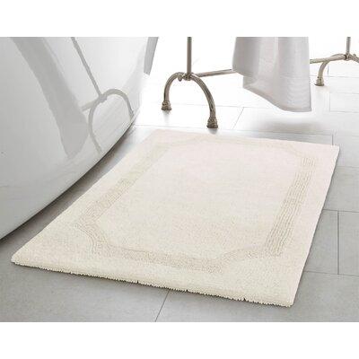 2 Piece Reversible Cotton Bath Rug Set Color: White