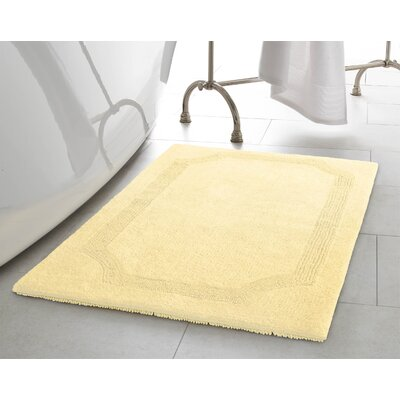 2 Piece Reversible Cotton Bath Rug Set Color: Yellow