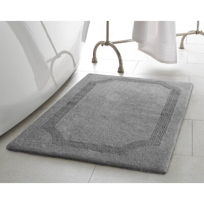 2 Piece Reversible Cotton Bath Rug Set Color: Charcoal