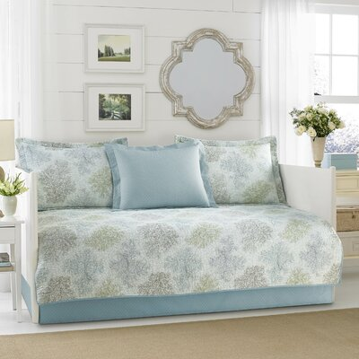 Saltwater 100% Cotton 5 Piece Twin Daybed Set by Laura Ashley Home