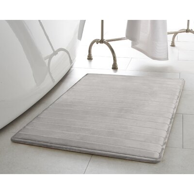 Infused Bath Rug Size: 17 W x 24 L, Color: Light Gray