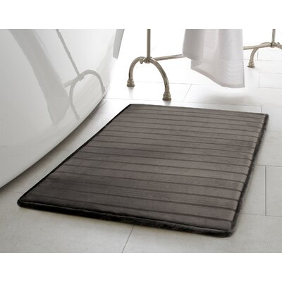 Infused Bath Rug Size: 17 W x 24 L, Color: Dark Gray