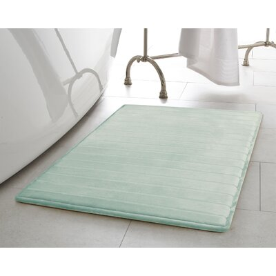 Infused Bath Rug Size: 17 W x 24 L, Color: Aqua