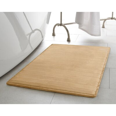 Infused Bath Rug Size: 17 W x 24 L, Color: Linen