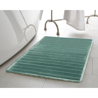 Infused Bath Rug Size: 17 W x 24 L, Color: Teal
