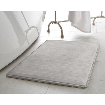 Infused Bath Rug Set Color: Light Gray