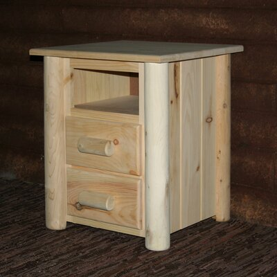 Frontier 2 Drawer Nightstand Color: Unfinished