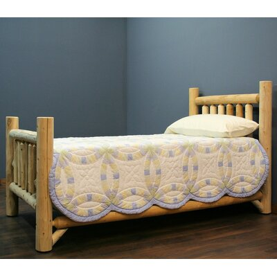 Timber Log Panel Bed Size: Double, Color: Light Honey