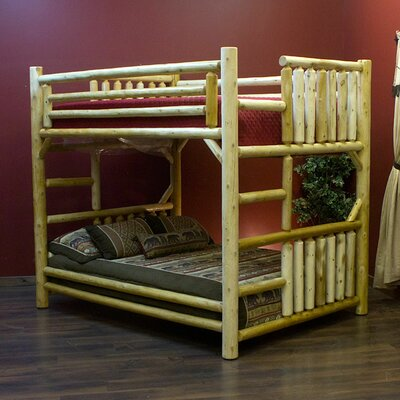 Futon Bunk Bed Finish: Clear Finish, Size: Double