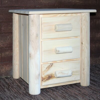 Frontier 3 Drawer Nightstand Color: Unfinished
