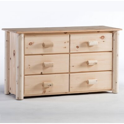 Frontier 6 Drawer Double Dresser Color: Unfinished